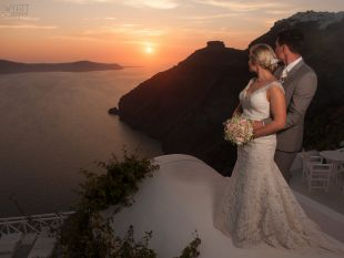 Clinton and Ella wedding in Santorini