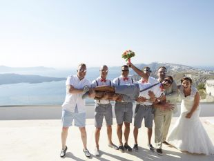 Katy and Wayne Wedding in Santorini, Greece