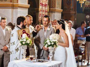 Mary and Jean Wedding in Santorini Greece